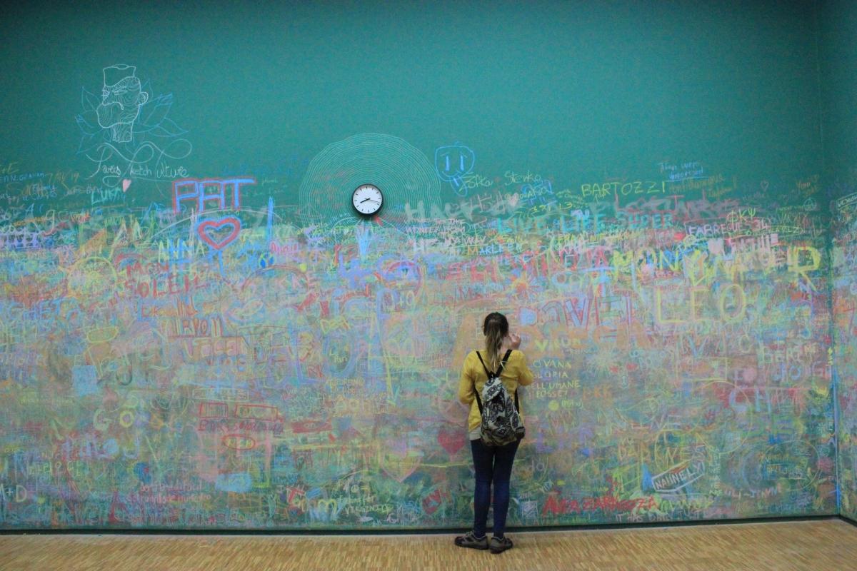 """Al Centre Pompidou potete """"imbrattare"""" un muro"""
